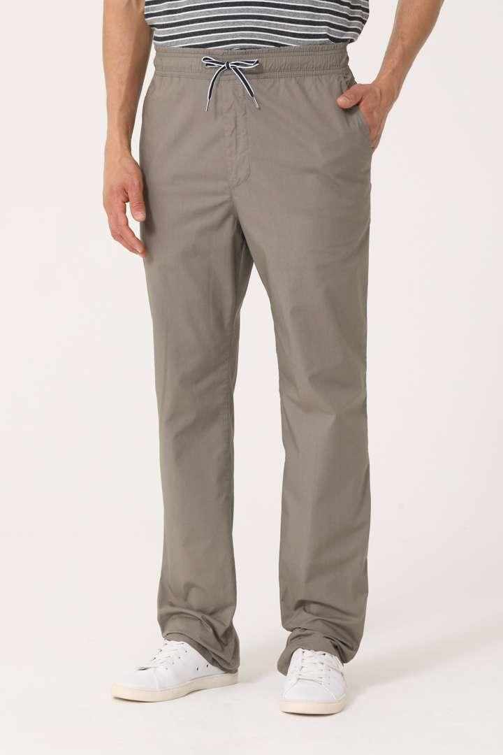 Pantalón náutico regular fit de poplin
