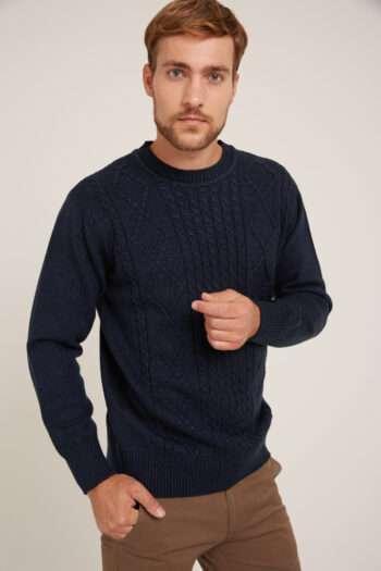 Sweater escote O de lana liviana