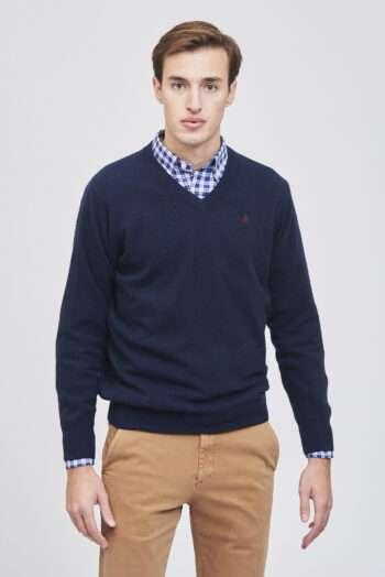 Sweater escote v basico piazza