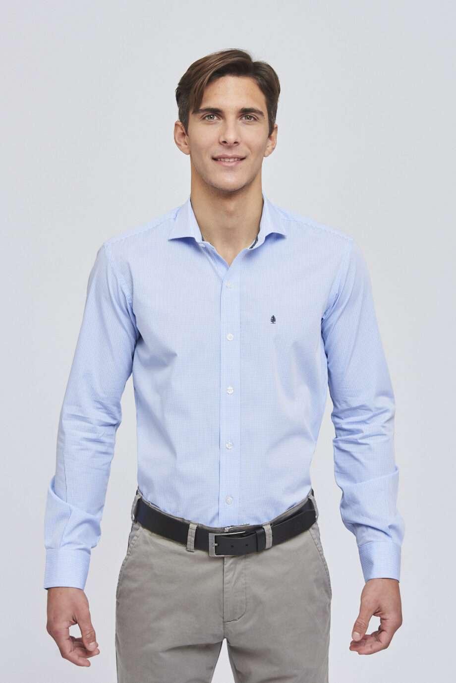 Camisa slim fit a cuadros