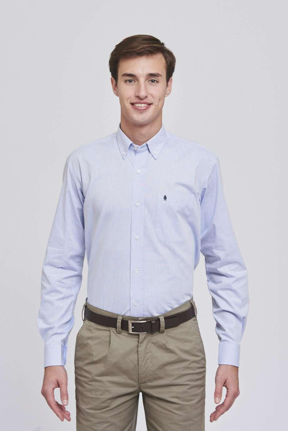 Camisa regular fit chambray