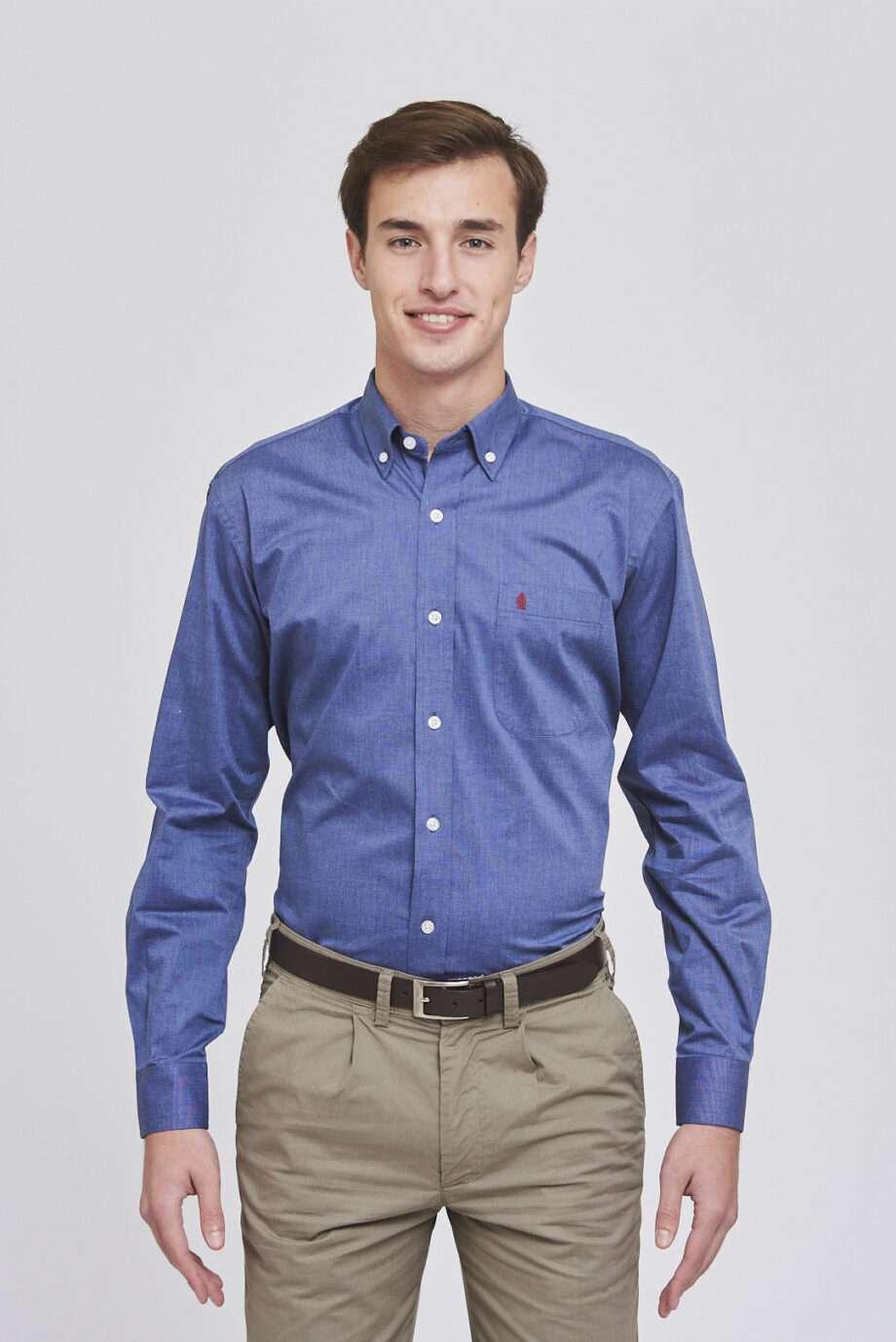 Camisa regular fit fil a fil