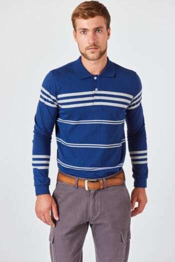Polo mangas largas a rayas de jersey