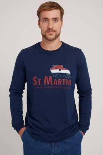 Remera mangas largas escote O St Martin de jersey