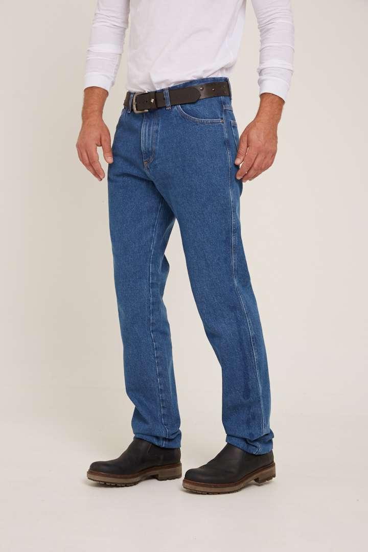 Jean con calce ancho